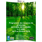 Programme vacances de printemps site de Renage